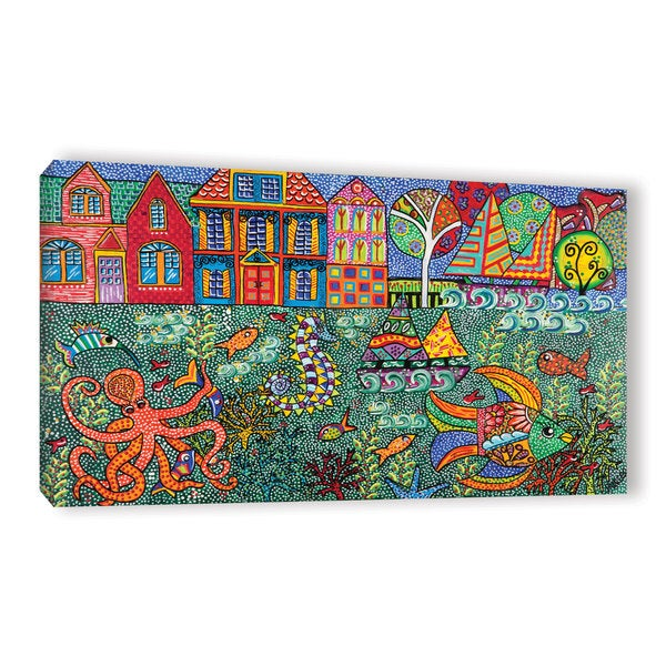 ArtWall Debra Purcell's Sea Life, Gallery Wrapped Canvas