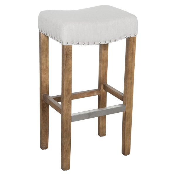 Kosas Home Kai Backless Barstool French Beige 18103356