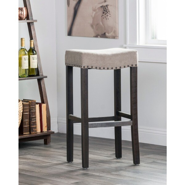 Kosas Home Kai Backless Barstool Beige 18103357