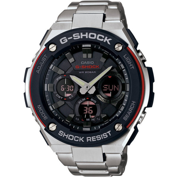 Casio GSTS100D-1A4 G-Steel Analog-Digital Stainless Steel Bracelet Men's Watch
