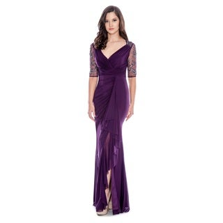 Decode 1.8 Women's Beaded V-Neck Gown