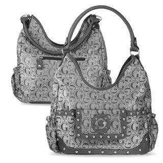 Zodaca Women Gray Jacquard Fabric Hobo Bag K1589