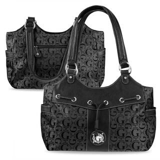 Zodaca K1541 Women's Black Fashion Causal Jacquard Fabric Hobo Shoulder Tote Bag