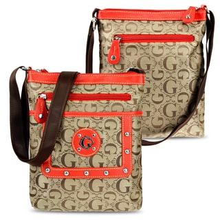 Zodaca Women Jacquard Fabric Crossbody Bag KE1614