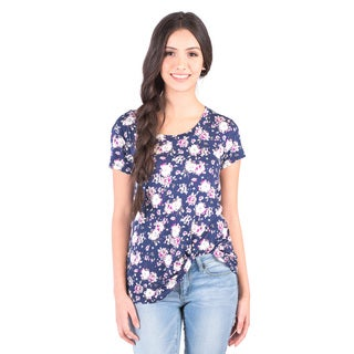 DownEast Basics Women's Floral Anytime Tee