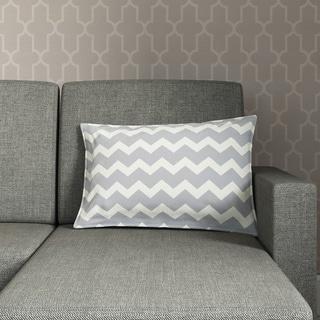 Chevron Cotton Canvas 22-inch Pillow