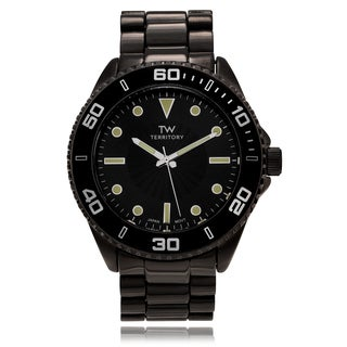 Territory Men's Round Tachymeter Case Link Watch