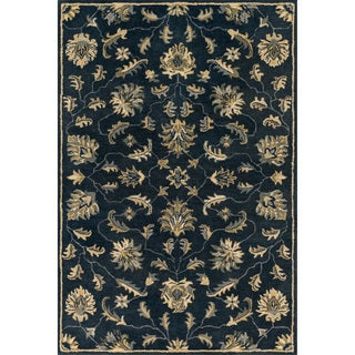 Hand-tufted Wilson Floral Midnight Wool Rug (7'6 x 9'6)