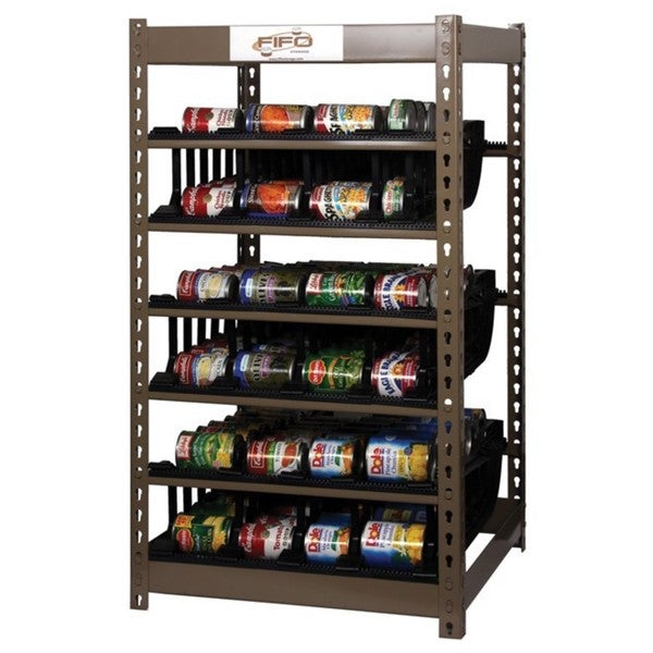 FIFO 340-can Food Storage Can Rack Stackable