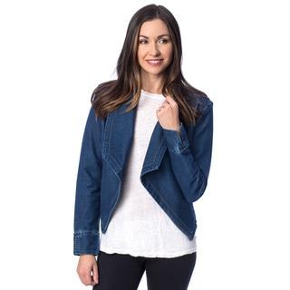 Women's Drape Front Jacket with Chiffon Back