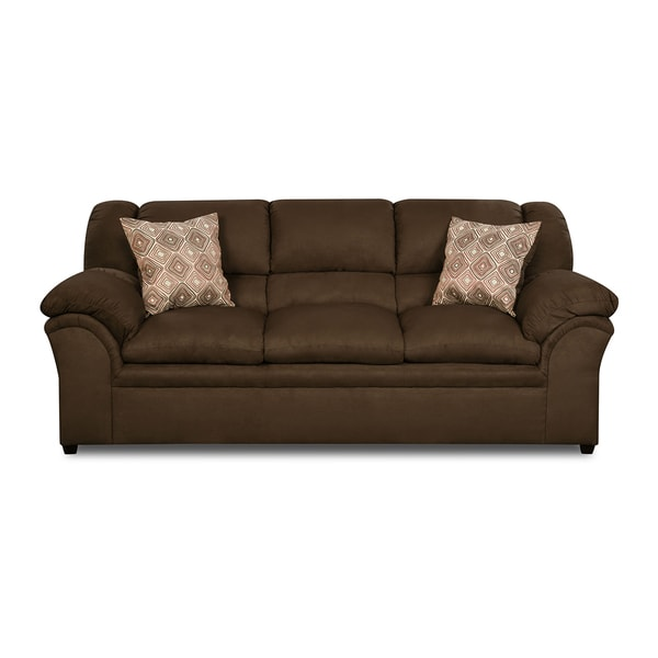 Simmons Upholstery Venture Chocolate Sofa