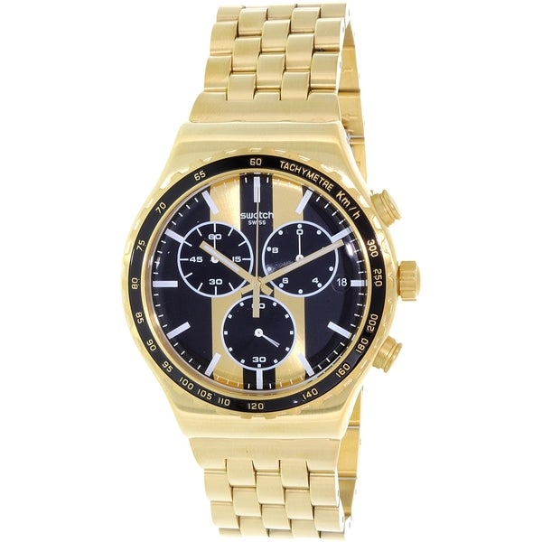 Swatch Men's Irony YVG400G Gold Stainless-Steel Quartz Watch