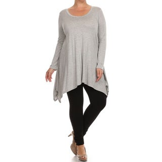 Plus Size Women's Solid Knit Dress