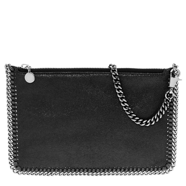 Stella McCartney Black Falabella Shaggy Deer Purse