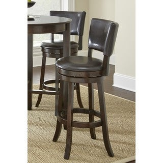 LYKE Home Korey Chocolate Bicast Bar Chair (Pack of 2)