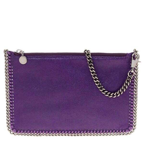Stella McCartney Falabella Purple Shaggy Deer Handbag