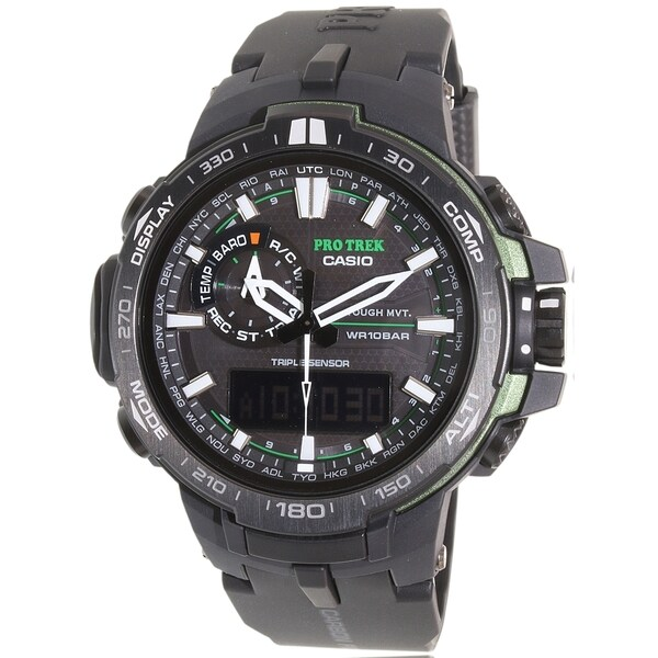 Casio Men's Pro Trek PRW6000Y-1A Black Resin Quartz Watch