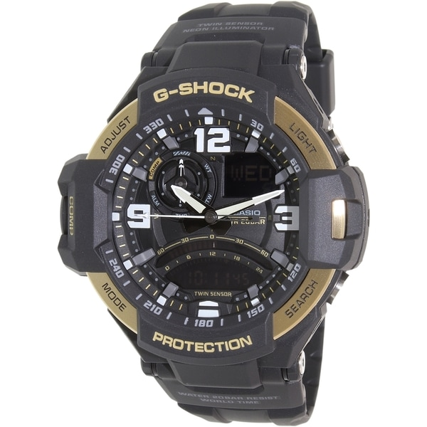 Casio Men's G-Shock GA1000-9G Black Rubber Quartz Watch