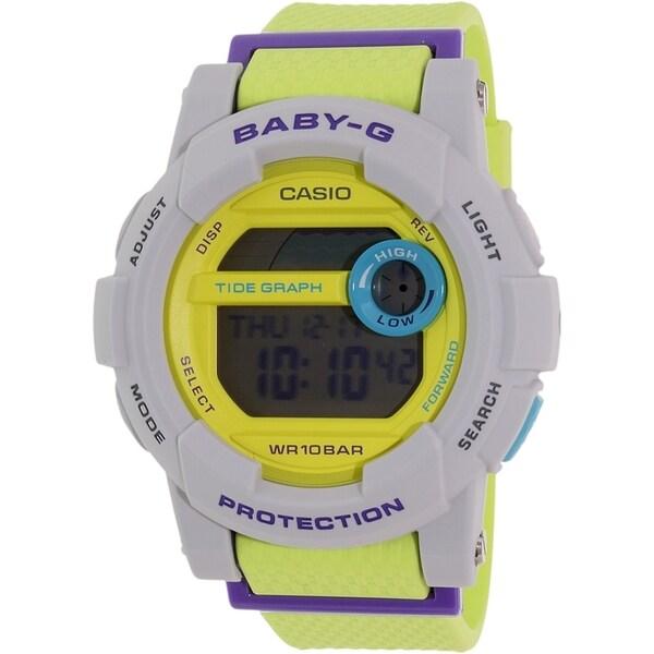 Casio Women's Baby-G BGD180-3 Grey Rubber Quartz Watch