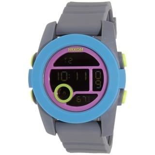 Nixon Men's Unit 40 A4901951 Grey Silicone Quartz Watch