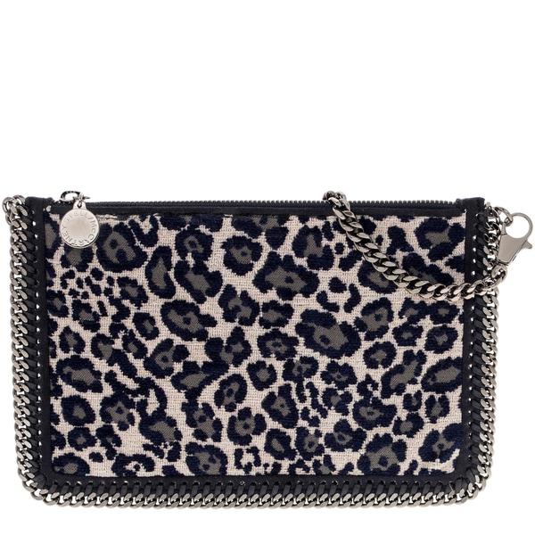 Stella McCartney Falabella Leopard Print Shaggy Deer Pouch Handbag