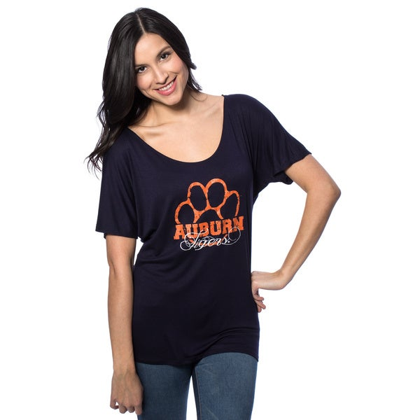 Auburn University Women's Off the Shoulder T-Shirt