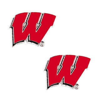 NCAA Wisconsin Badgers Post Stud Earring Charm Set