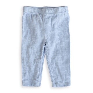 aden + anais Light Blue Baby Boy's Newborn Muslin Pants