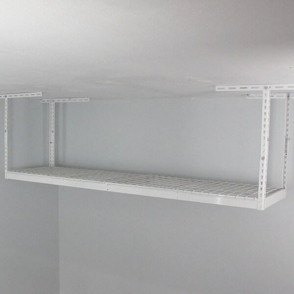 White 2' x 8' Overhead Garage Storage Rack