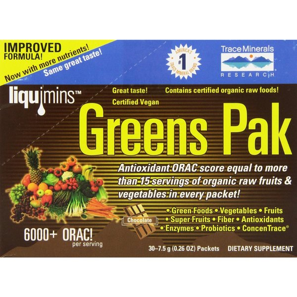 Trace Minerals Research Greens Pak Chocolate (30 Packets)