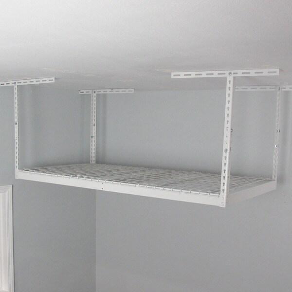 White 3' x 6' Overhead Garage Storage Rack