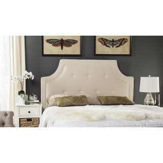 Safavieh Tallulah Beige/ White Arched Tufted Headboard (King)