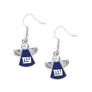 NFL New York Giants Crystal Angel Wings Dangle Logo Earring Set