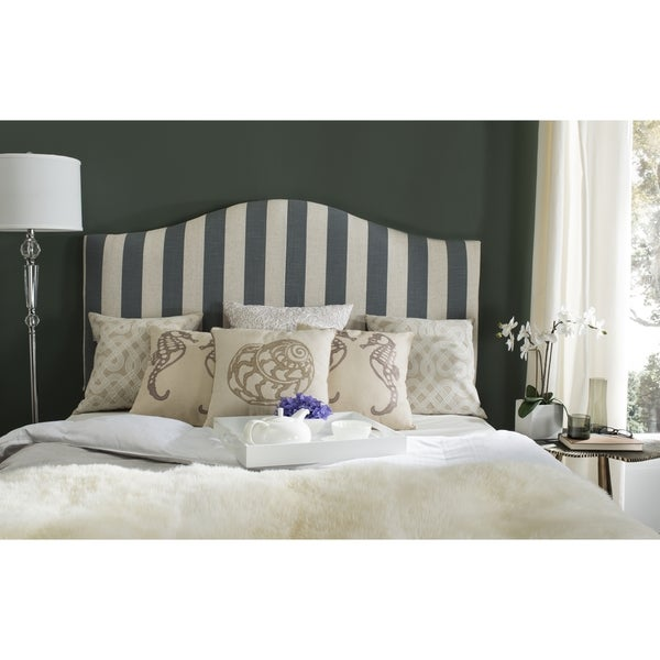 Safavieh Connie Grey/ White Stripe Headboard (Full)