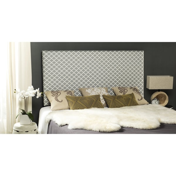 Safavieh Sydney Grey/ White Lattice Headboard (King)
