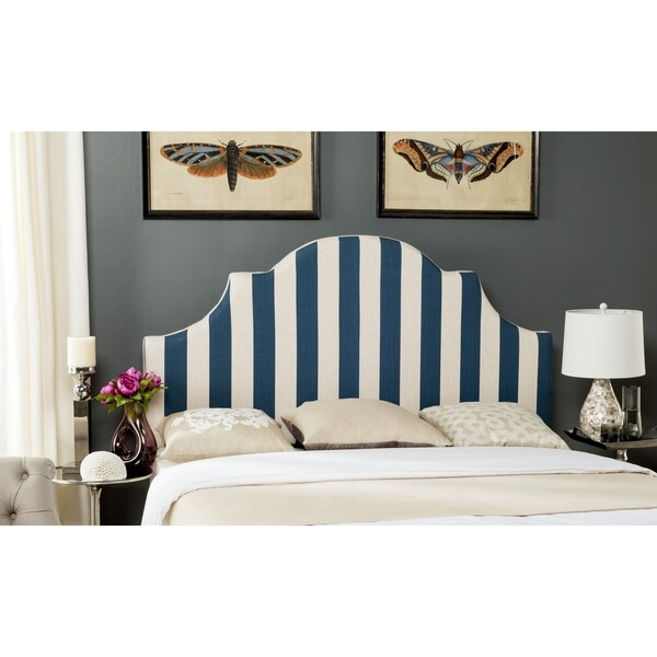 Safavieh Hallmar Navy/ White Stripe Headboard (Full)