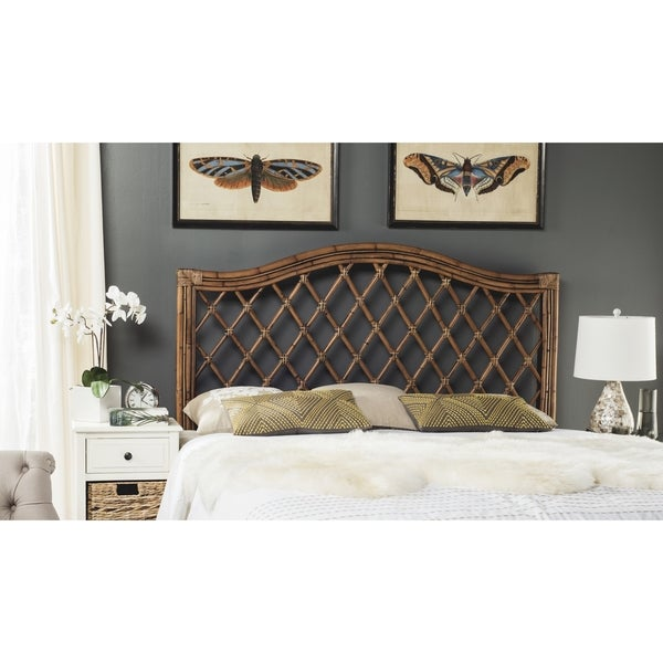 Safavieh Gabrielle Brown/ Multi Wicker Headboard (Queen)