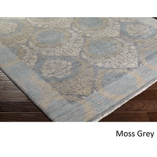 Hand Knotted Autostrada Wool/Silk Rug (9' x 12')