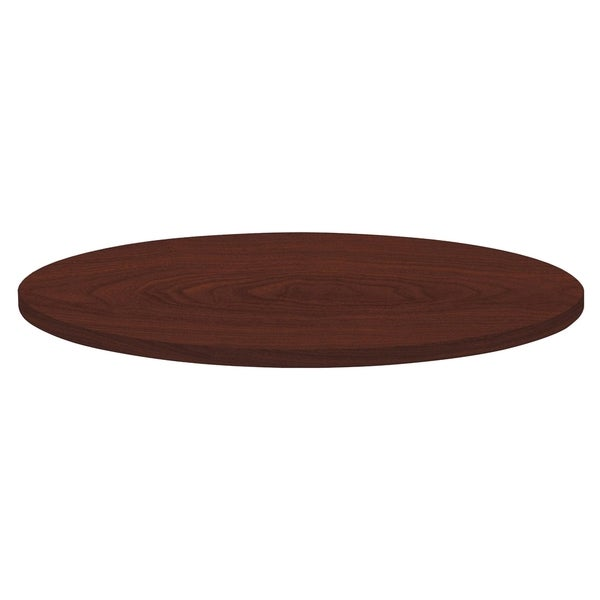 Lorell Round Invent Tabletop - Mahogany - (1/Each)