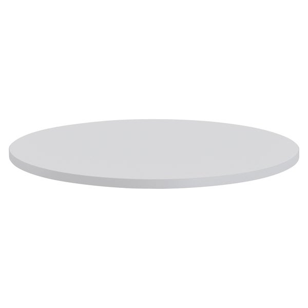 Lorell Round Invent Tabletop - Light Gray - (1/Each)