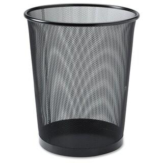 Lorell Black Mesh Round Waste Bin - (1/Each)
