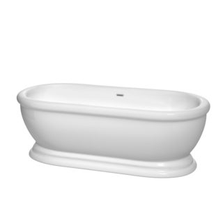 Wyndham Collection Mary 68-inch Freestanding Soaking Bathtub in White