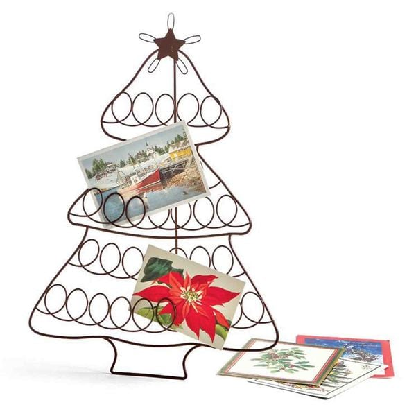 Tag Tree Greeting Card Holder - Antique Bronze