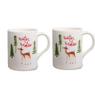 Tag Woodland Mug, Set of 2