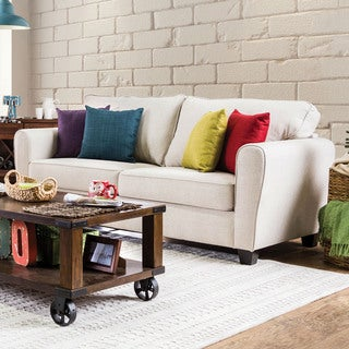 Furniture of America Kayleigh Contemporary Beige Fabric Sofa