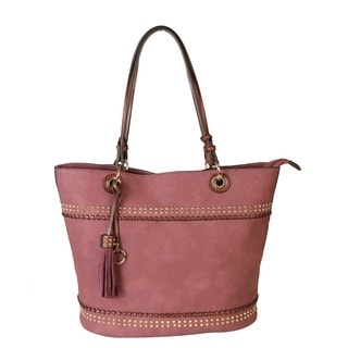 Rimen & Co. Women's PU Leather Studded Design Handbag