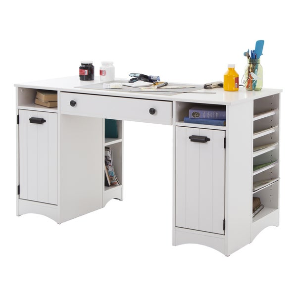 South Shore Sewing Machine And Artwork Craft Table with Storage