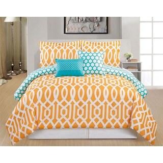 Ashmont Reversible Oversized Full/Queen 5-piece Comforter Set