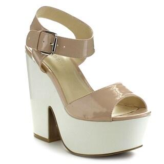 Wild Diva ELFI-03 Women's Platform Chunky Sandals