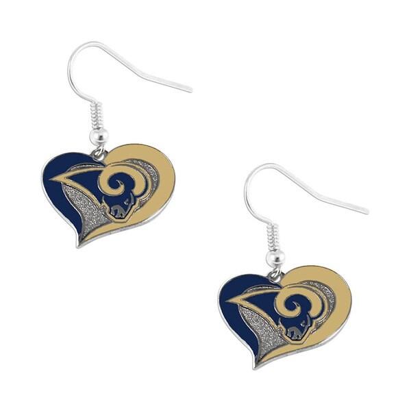 NFL St. Louis Rams Swirl Heart Earring Dangle Logo 17128903